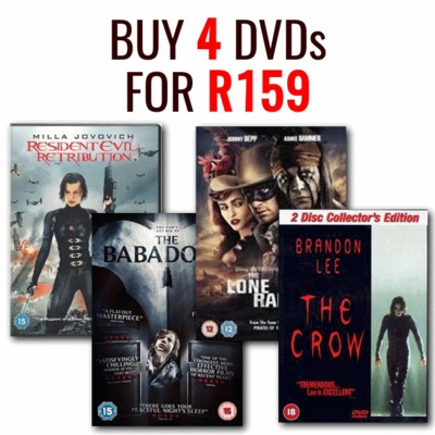 Buy 4 DVD's for R159