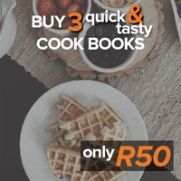 Buy 3 Quick & Tasty Cook Books for R50
