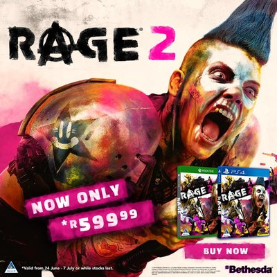 Rage 2 (PS4/Xbox One) Now On Sale for R599 until 7 July 2019