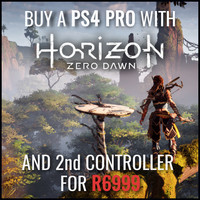 Sony PlayStation 4 Pro 1TB Console + Horizon Zero Dawn + DS4 Controller