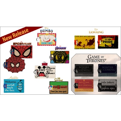 Branded Door Mats - The Lion King, Spider-Man, Harry Potter and more