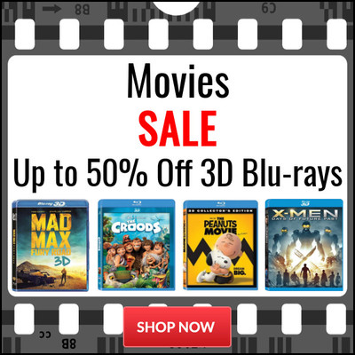 Save Up to 50% on Selected 3D Blu-ray