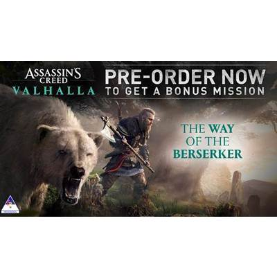 Assassin's Creed Valhalla (PS4/Xbox One) Standard, Gold & Ultimate Editions with Pre-Order Bonus DLC - The Berserker Quest & Steelbook
