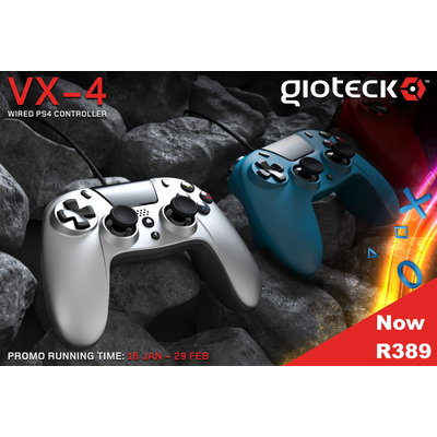 Gioteck - VX4 Wired Controller Promotion - Now only R389 - Ends 29 February 2020