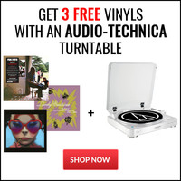 Get 3 Free Vinyls with and Audio-Technica Turntable