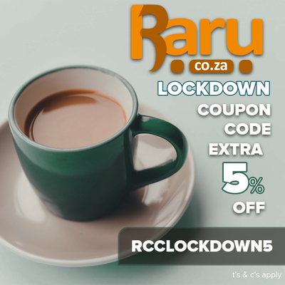 Use Raru Coupon Code RCCLOCKDOWN5 at Checkout to get an extra 5% Off Your Order - T&Cs apply