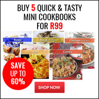 """Buy 5 """"Quick and Tasty"""" Books for R99"""