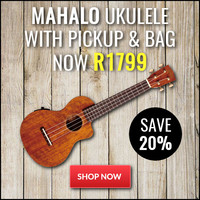Mahalo Hano Elite Series Concert Ukulele with Pickup and Bag Now Only R1799 - Save 20%