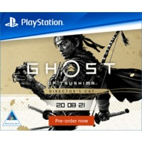 Ghost of Tsushima Director's Cut (PS4/PS5) on Pre-Order. Includes Bonus DLC. Due 20 August 2021.