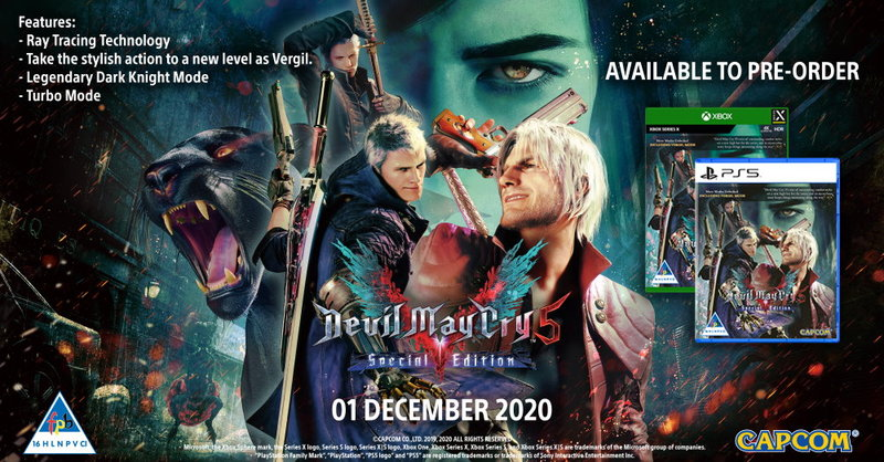 Devil May Cry 5: Special Edition (PS5/Xbox Series X) on Pre-Order. Due 1 December 2020.