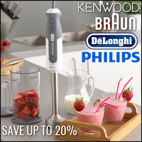 Up To 20% Off on Kenwood, De'Longhi, Philips & Braun Kitchen Appliances