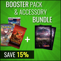 Buy 3 Booster Packs and Trading Card Accessories and Get 15% Off