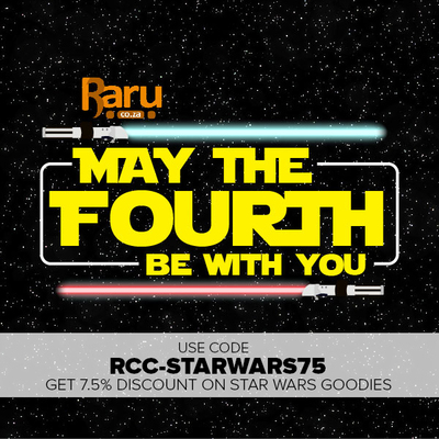 Get 7.5% Off Star Wars Goodies with Raru Coupon code RCC-STARWARS75