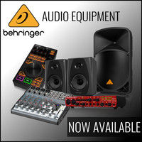 Behringer Audio Equipment Now Available