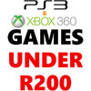 PS3 and Xbox 360 Games Under R200