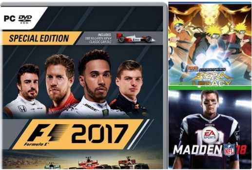 news new games f1 2017 pc ps4 xbox one madden nfl 18. Black Bedroom Furniture Sets. Home Design Ideas