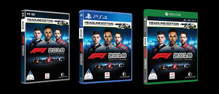 news f1 2018 headline edition pc ps4 xbox one now shipping raru. Black Bedroom Furniture Sets. Home Design Ideas