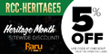 Raru Coupon - Get 5% Off Site Wide with RCC-HERITAGE5 - Ends 30 September - T&Cs Apply - Thumbnail