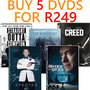 Hot Bundle Deal: Buy 5 DVD's For R249 New Titles Added - Thumbnail