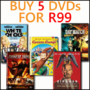 Hot Bundle Deal: Buy 5 DVD's For R99 - Thumbnail