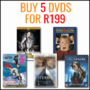 Hot Bundle Deal: Buy 5 DVD's For R199 - Thumbnail