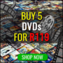 Hot New Bundle Deal: Buy 5 DVD's for R119 (New Titles Added) - Thumbnail
