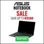 ASUS Notebook Sale - Save Up to R2500! - Ends 31 May 2017 - Thumbnail