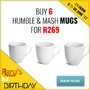 Buy 6 Humble & Mash Mugs For R269 - Thumbnail