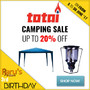 Totai Sale Camping - Up To 20% Off - Thumbnail