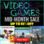 Video Game Mid Month Sale - Save Up To 15% Titles include Overwatch, Final Fantasy XV, Ghost Recon: Wildlands - Thumbnail