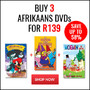 Hot Bundle Deal: Buy 3 Afrikaans DVD's for R139 - Thumbnail