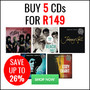 Hot New Bundle Deal: Buy 5 CD's for R149 - Thumbnail