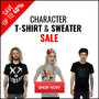 Character T-Shirt & Sweater Sale - Save Up To 40% - Thumbnail