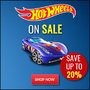 Hotwheels on Sale - Save Up To 20% - Thumbnail