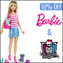 Get 10% Off your favourite Barbie and Monster High Dolls - Thumbnail