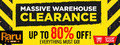Warehouse Clearance Sale - Up to 80% Off - Thumbnail