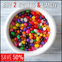 Buy 2 Selected In Stock Sweets & Snacks - Save 50% - Thumbnail