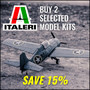Buy 2 Selected Italeri Plastic Model Kits Save 15% - Thumbnail