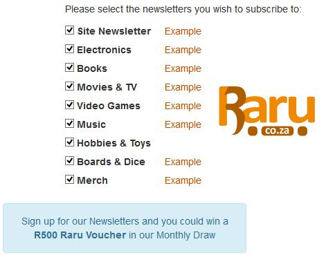 fc10e3a47 News - Sign up for any of our Newsletters and you could win a R500 ...